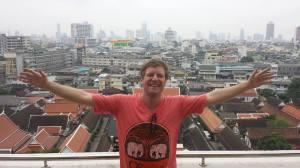 Comida na Tailândia - Marcel sendo feliz na Ásia